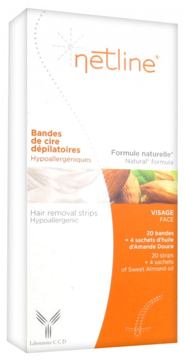 Netline Hair Removal Cold Wax Strips For Sensitive Skin