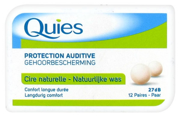 /Quies Protecci/ón auditiva Mini espuma 3/pares tapones anti ruido para conducto sensible/ 3 Quies/ /Lote de 3/cajas de 3/pares