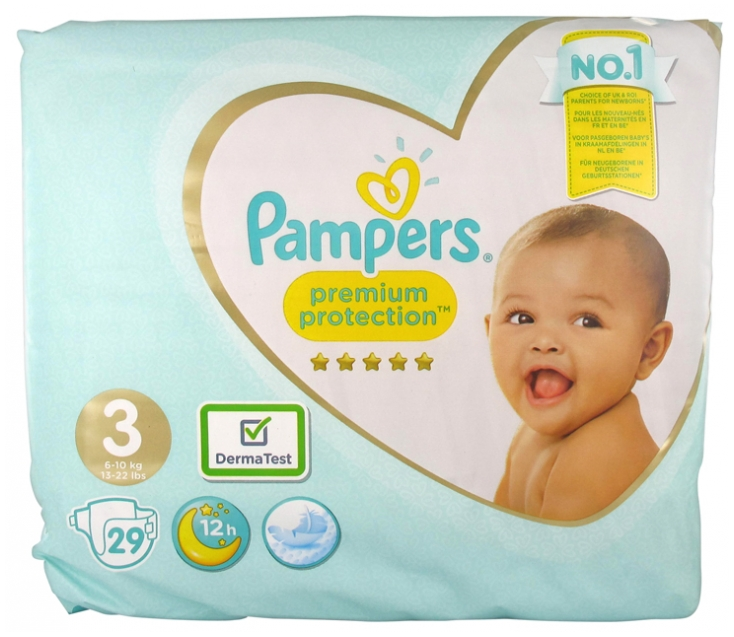 24 Couches Pampers Premium Protection Taille 0 /<3kg