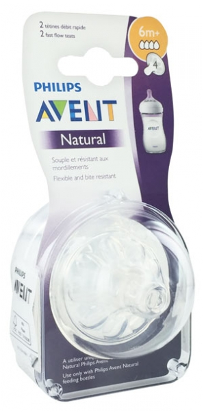 Fast Flow 6 months+ Philips AVENT 2 Natural Teat