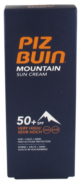 Piz Buin Mountain Sun Cream Spf 50 Very High Protection 50ml
