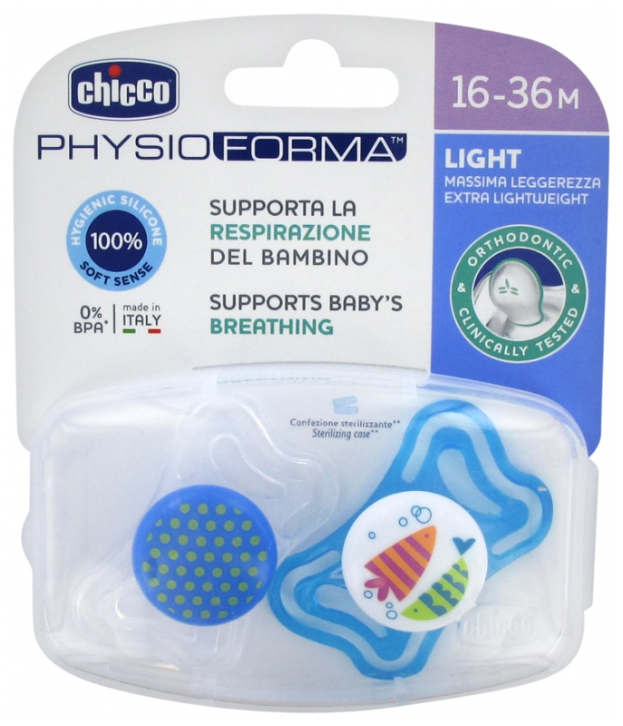 d 18-36mths Blue Silicone Soothers