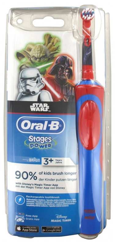 Oral B Stages Power Electric Toothbrush for Children 3 Years and + Model: Star Wars