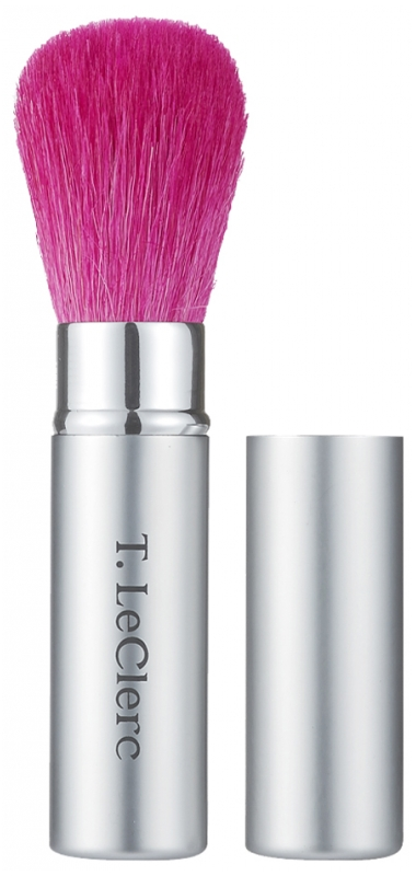 T Leclerc Retractable Powder Brush Pink